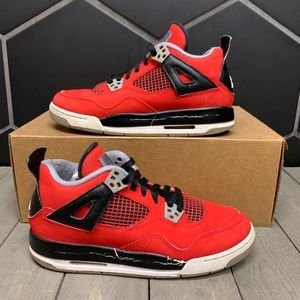 Used Air Jordan 4 Toro Red Black Retro GS Shoe 6Y